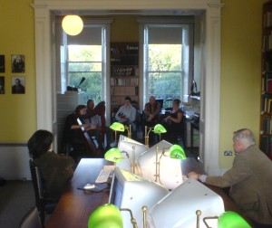 Staff session at Irish Traditional Music Archive on Culture Night