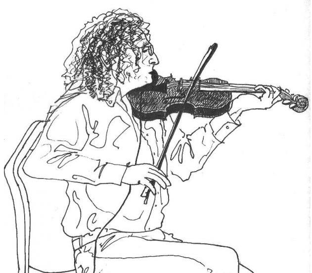 Drawing of Martin Hayes by Joao Valente Ribeiro Lopes.