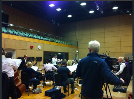 Iarla Ó Lionard and David Brophy with RTÉ National Concert Orchestra