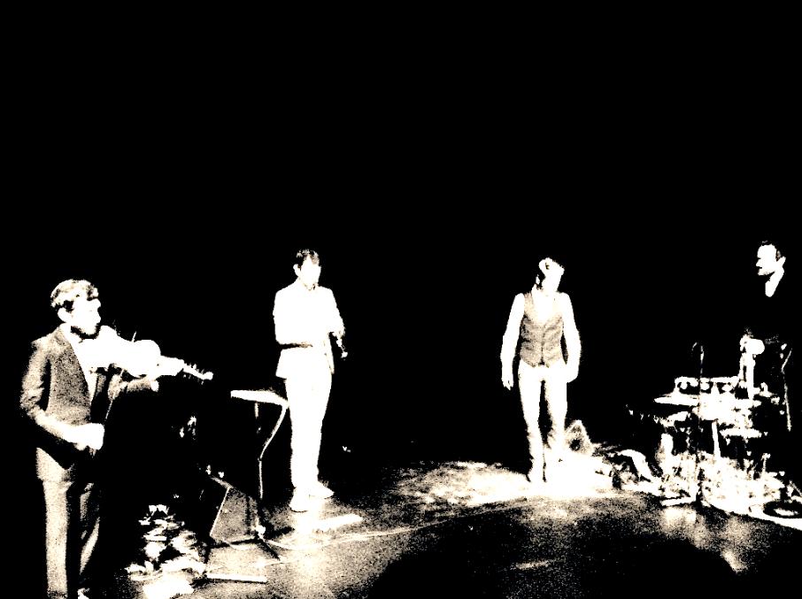 Caoimhín Ó Raghallaigh, Seán Mac Erlaine, Nic Gareiss and Petter Berndalen at the Riverbank Arts Centre, 25 September 2013