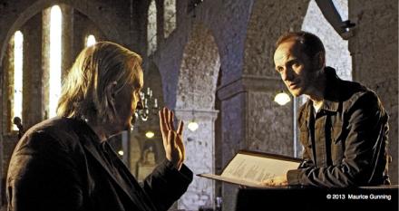 Mícheál Ó Súilleabháin and Iarla Ó Lionáird. Photograph by Maurice Gunning