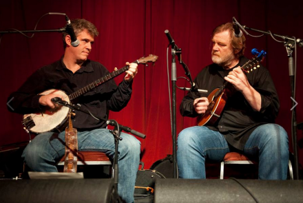 Dirk Powell and Brendan Gleeson performing at the Sugar Club (Pic: Con Kelleher)