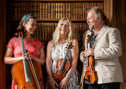 Natalie Haas, Mairéad Ní Mhaonaigh and Alasdair Fraser for Music Network